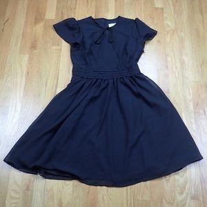 NWOT Modcloth Retro Little Black Dress Flutter